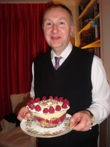Nigel offering his famous Trifle