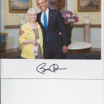 With Pres. Obama on Memorial Day, 2014